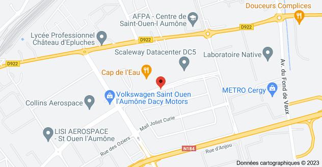 6 Rue André Ampère, 95310 Saint-Ouen-l'Aumône: carte