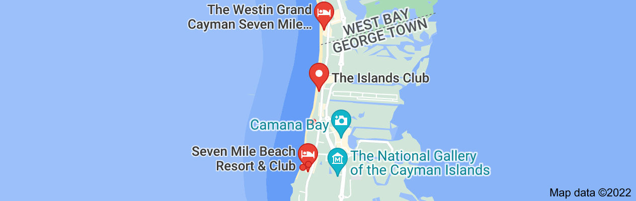 Map of Seven Mile Beach Vacation Club, Grand Cayman Islands (II)