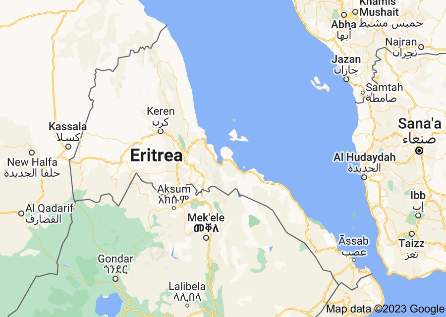 Location of Eritrea
