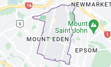 Location of Mount Eden