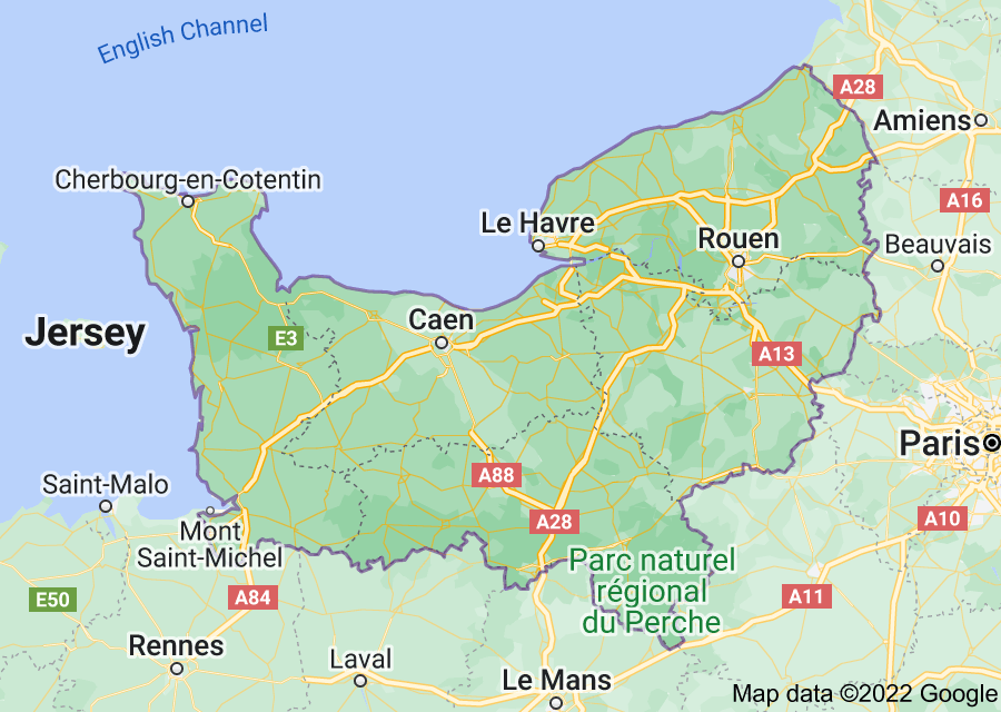 Location of Normandy