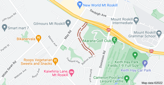 Location of Roseman Avenue