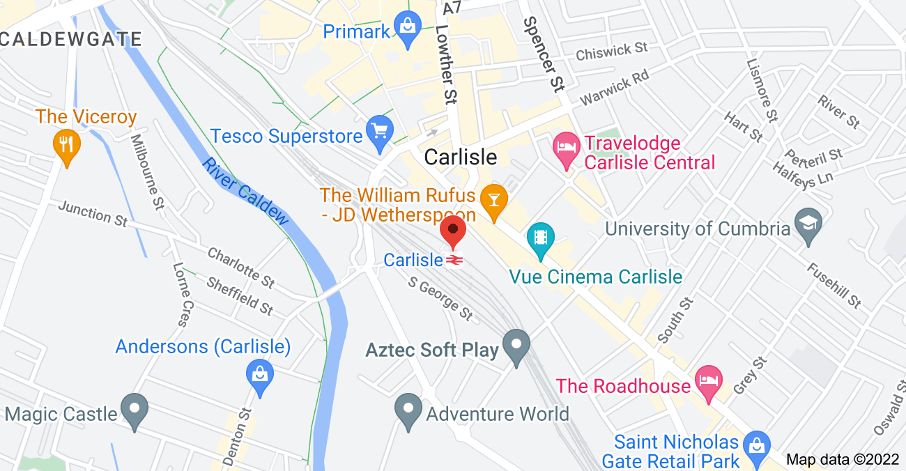 Map of Map for V3R8+7P Carlisle