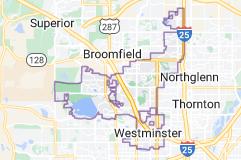 Map of Westminster, Colorado