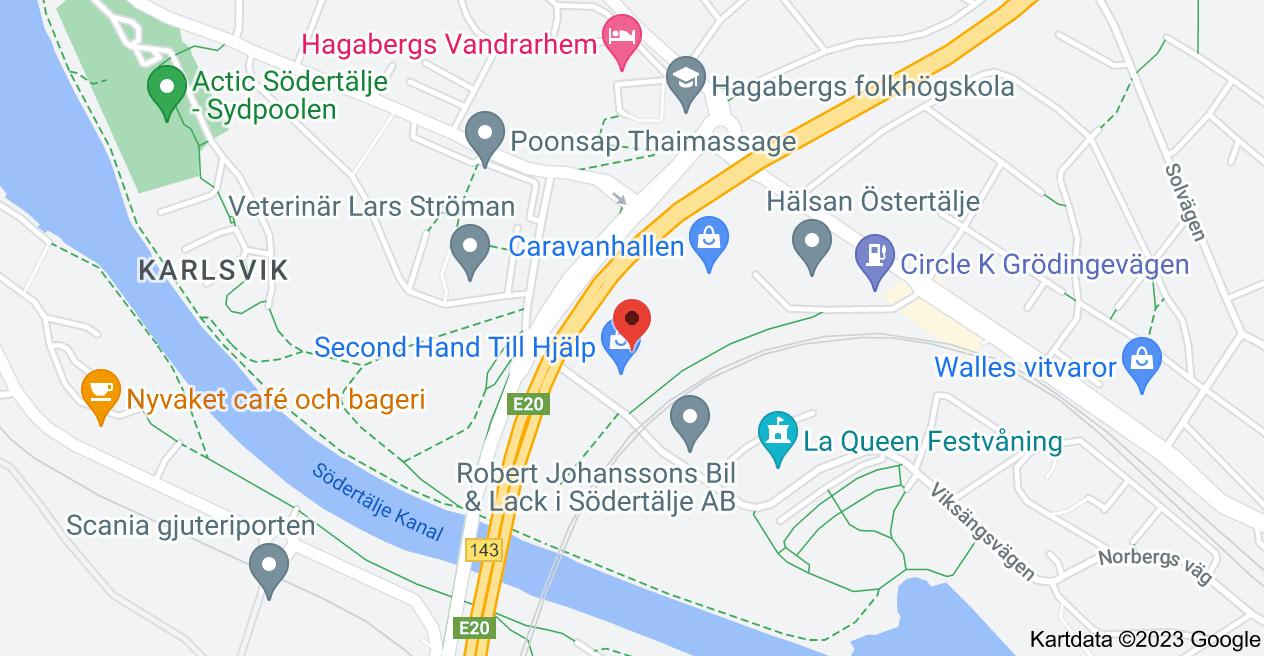 Karta över Viksängsvägen 11, 152 57 Södertälje