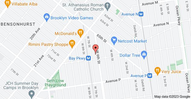 Map of 1400 W 6th St, Brooklyn, NY 11204