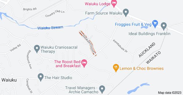 Location of Raukawa Grove