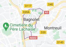 Location of Bagnolet