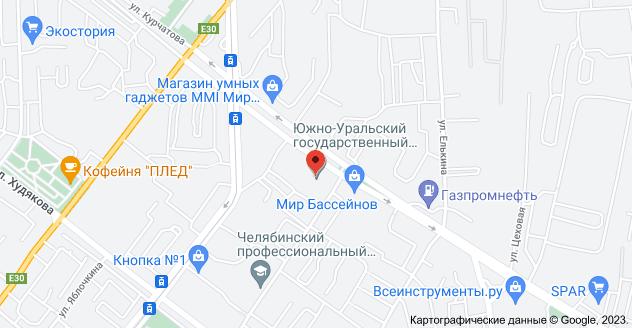 ул. Курчатова, 7, Челябинск, Челябинская обл., 454048: карта