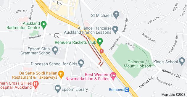 Location of Mauranui Avenue