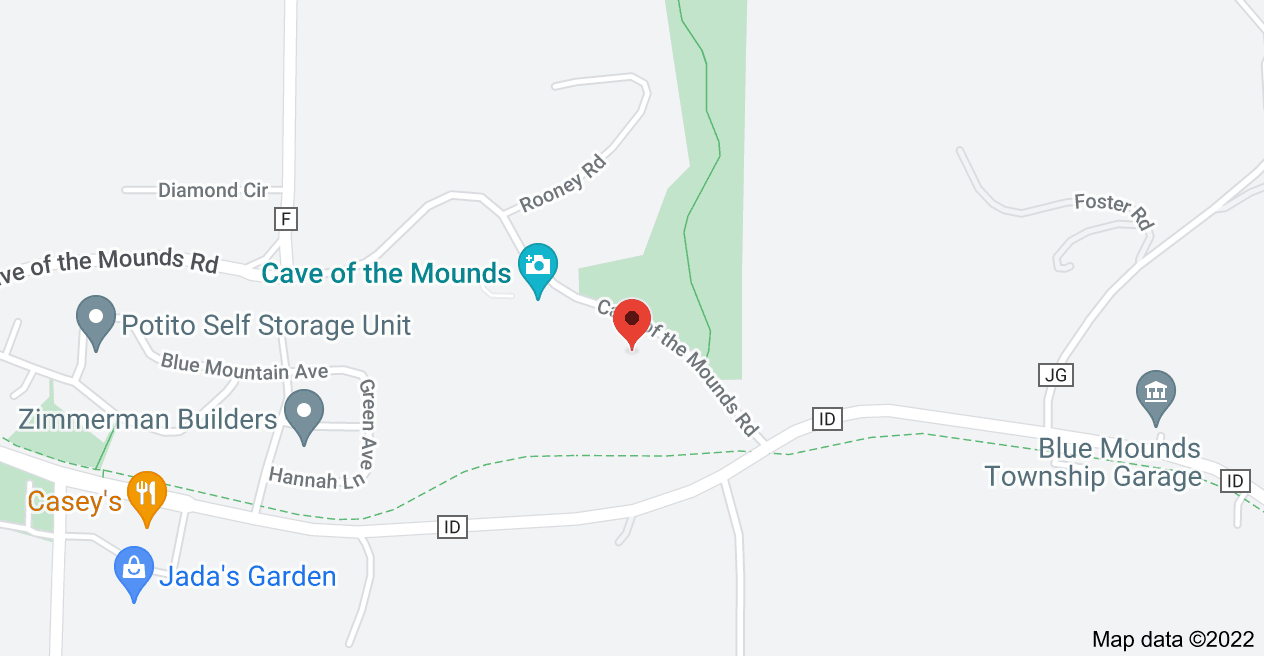 Map of 2951 Cave of the Mounds Rd, Blue Mounds, WI 53517
