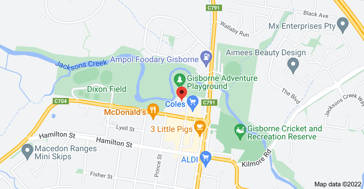 Map of 16 Brantome St, Gisborne VIC 3437