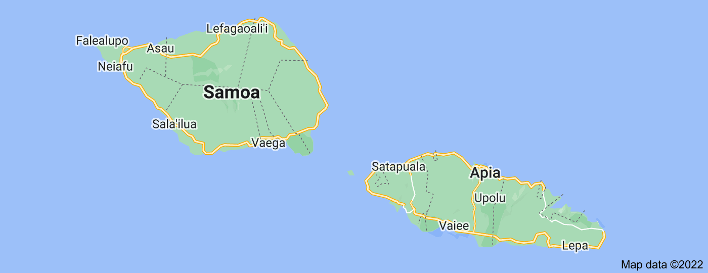 Location of Samoa