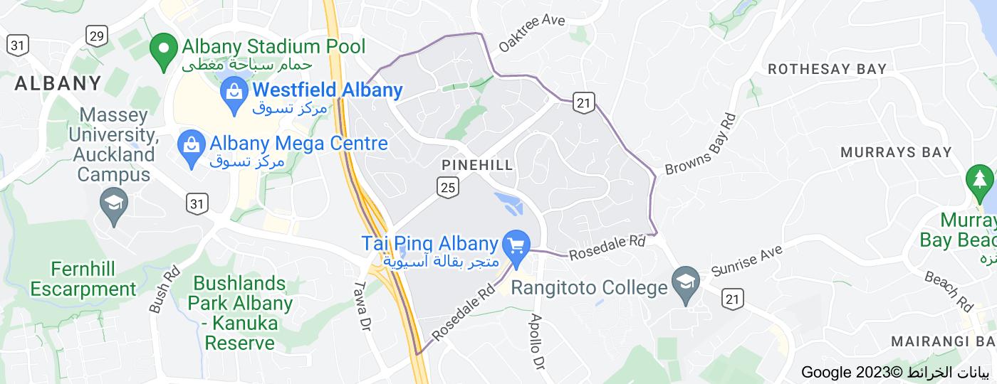 Location of Pinehill, New Zealand