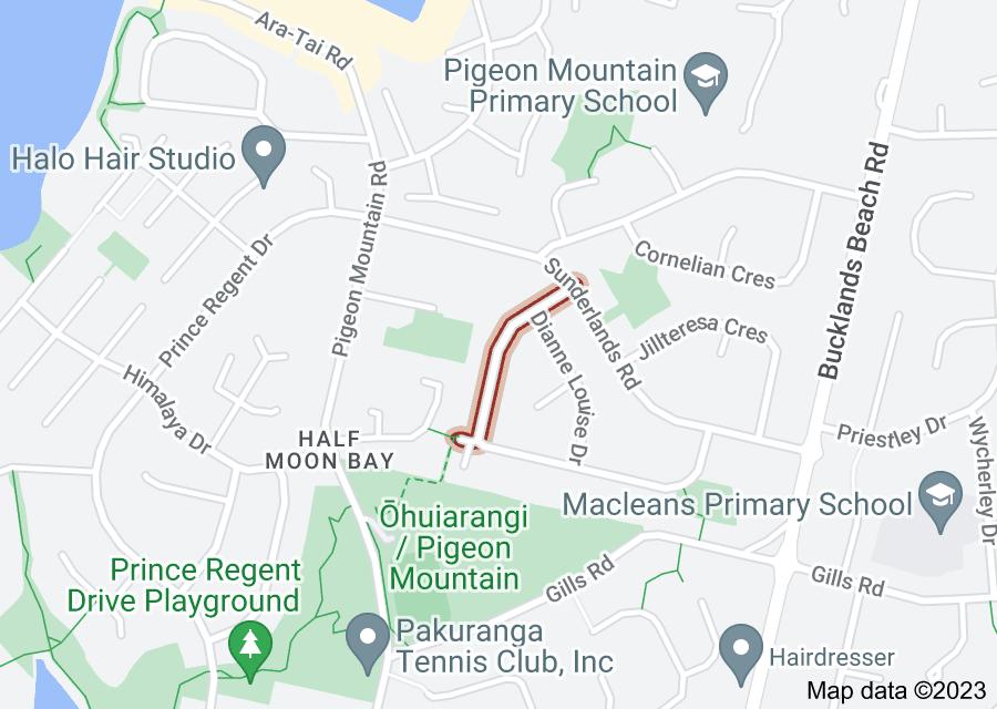Location of Mark Edward Drive