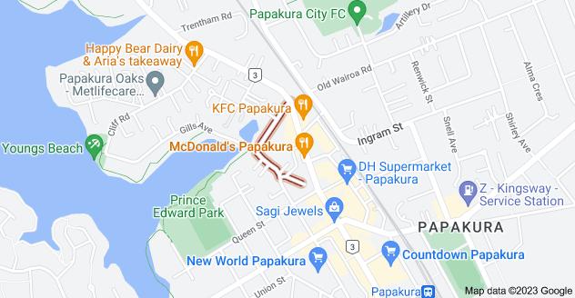 Location of Coles Crescent