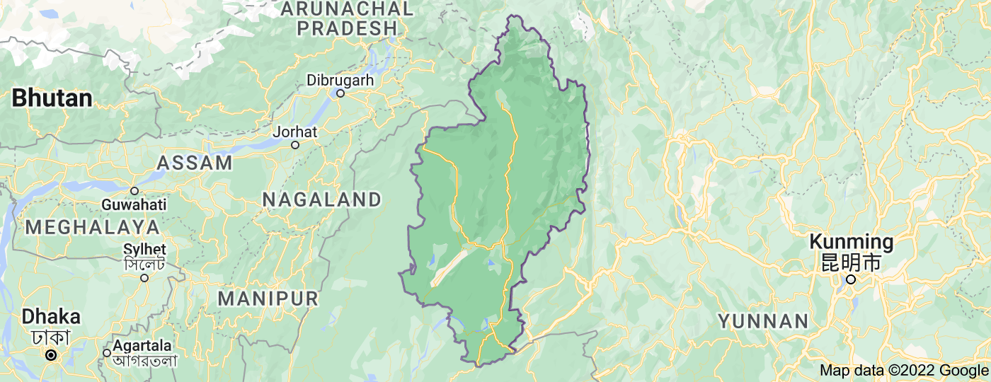 Location of Kachin