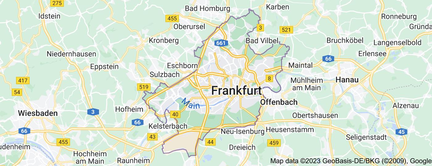 Location of Frankfurt