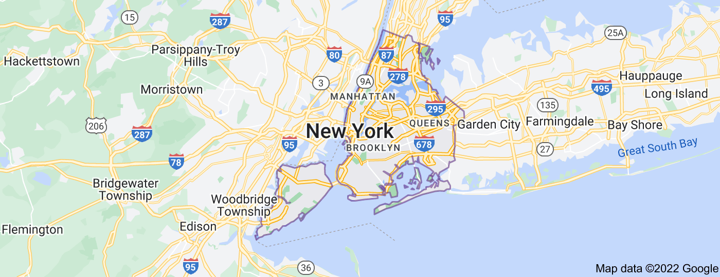 Location of New York City