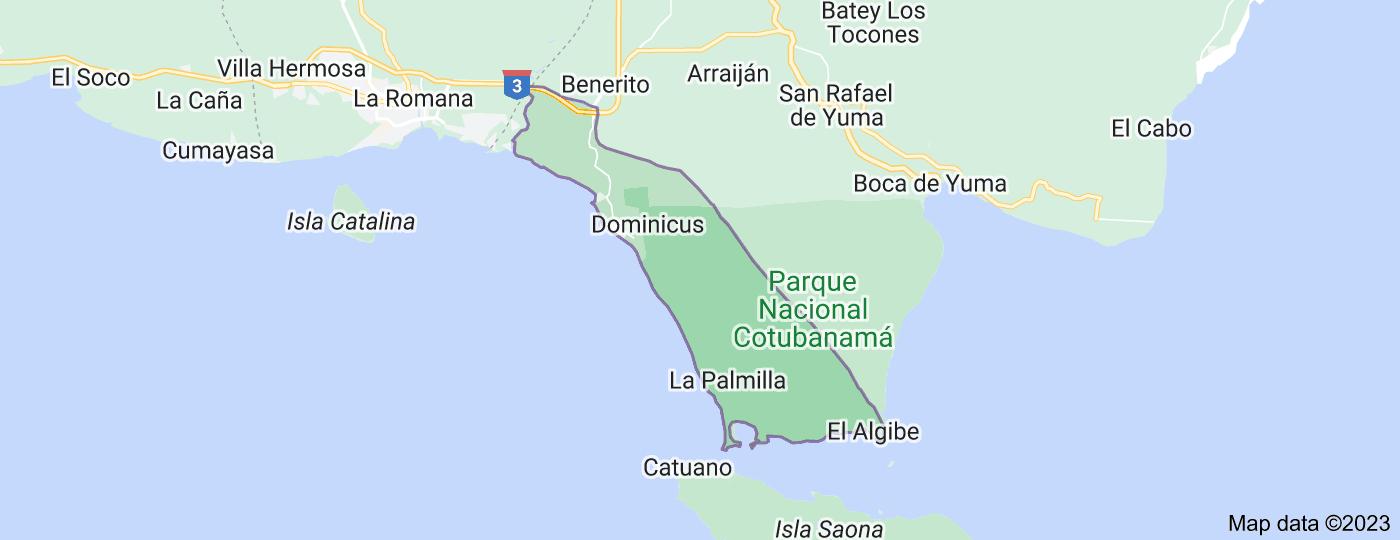 Location of Bayahibe