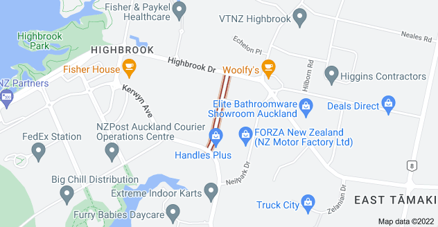Location of Ra Ora Drive