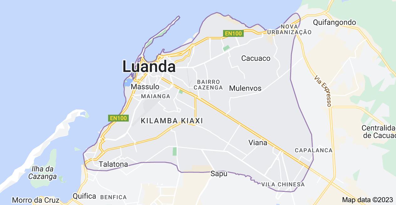 Map of Luanda