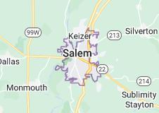 Map of Salem, Oregon
