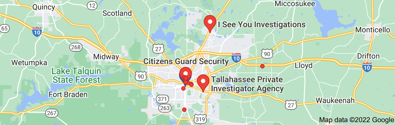 Map of private investigator tallahassee florida