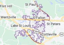 Map of O'Fallon, Missouri