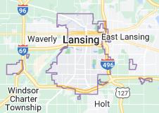 Map of Lansing, Michigan