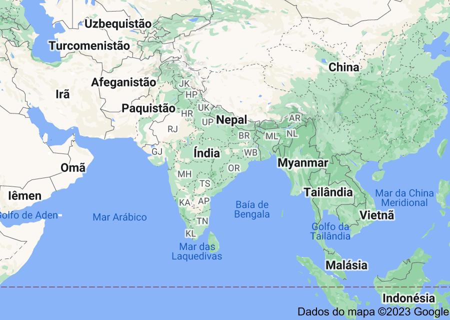 Location of Índia