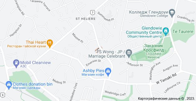 Location of Калибан Плейс