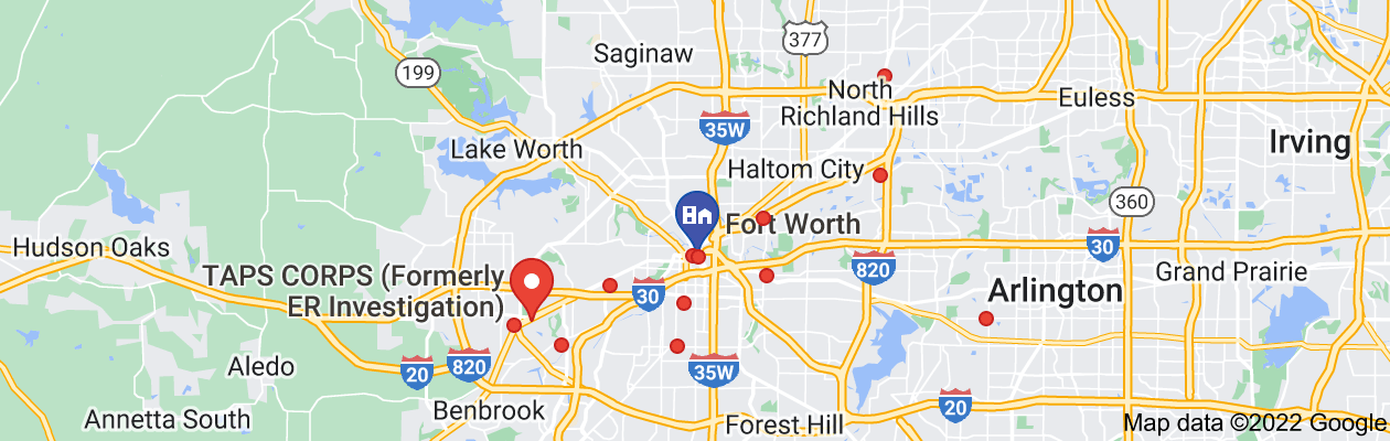 Map of private investigator fort worth