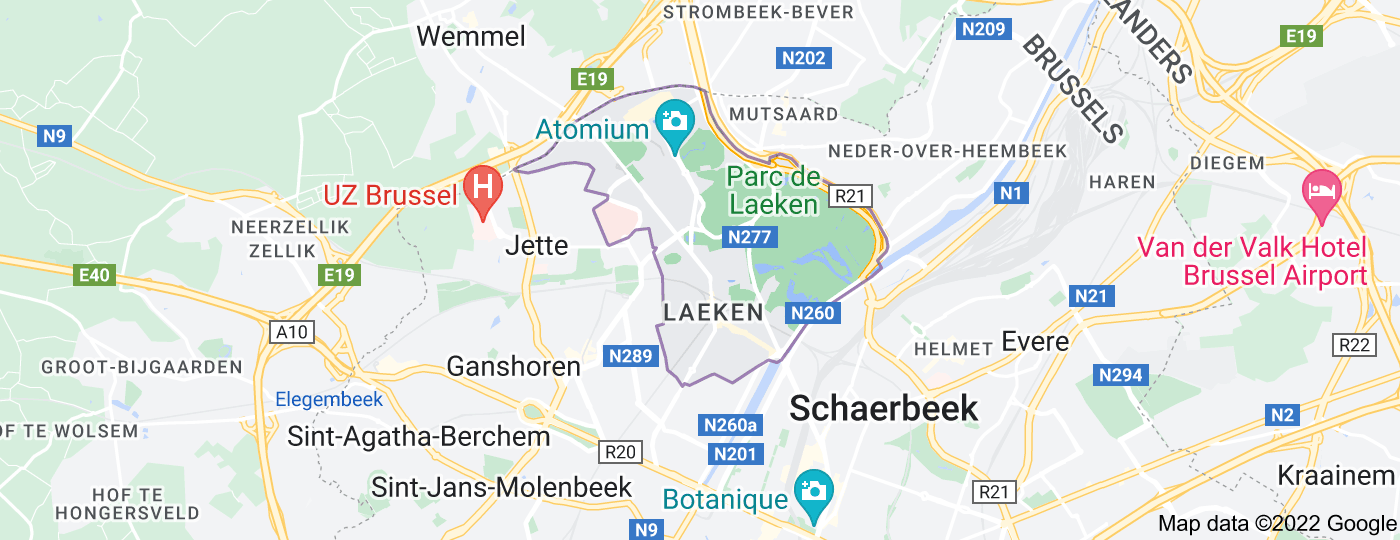 Location of Laeken