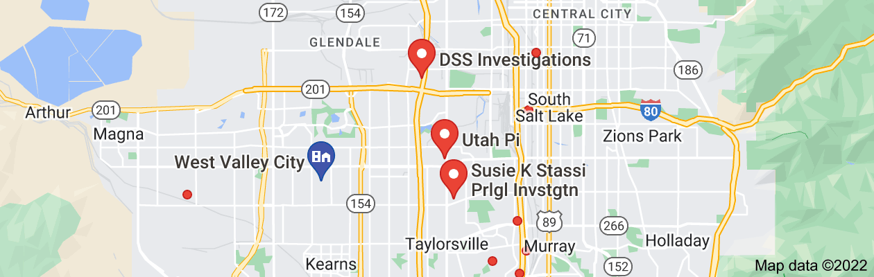 Map of private investigator west valley city utah