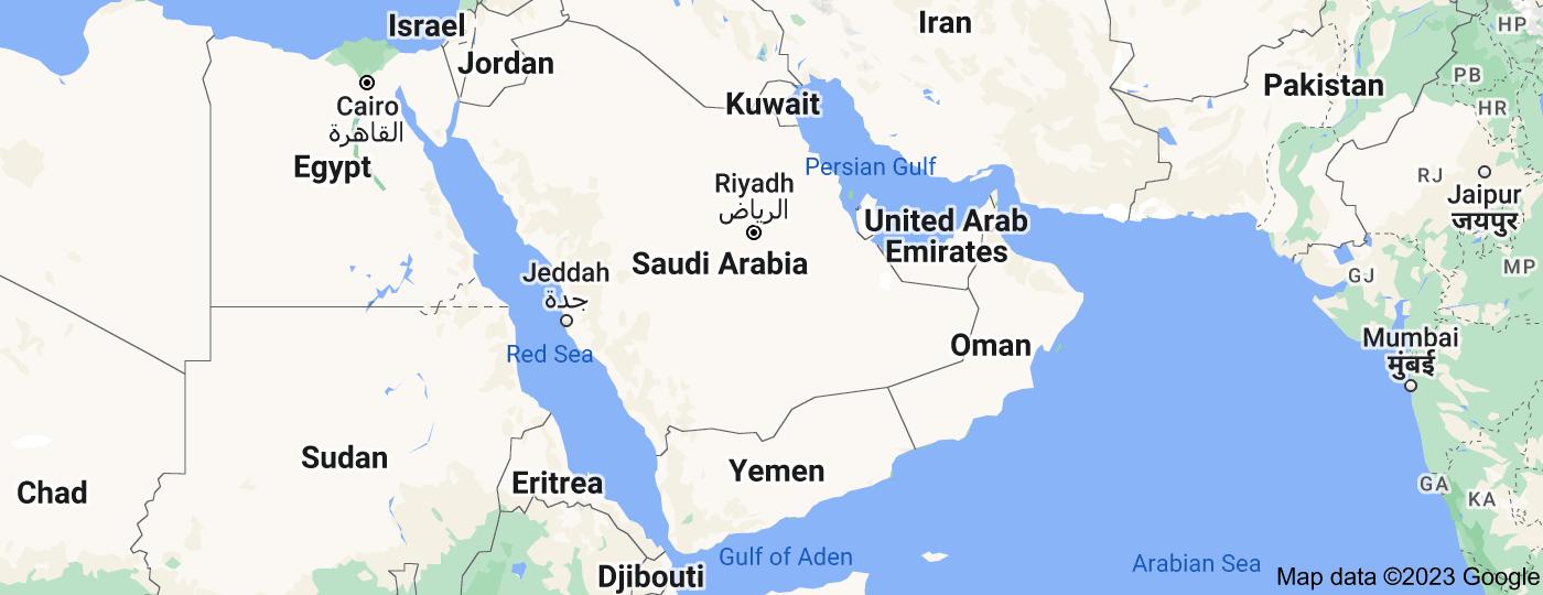 Location of Arabian Peninsula