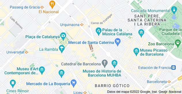 Mapa de Calle de Amargós, 08002 Barcelona, España