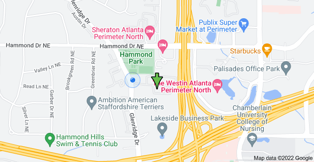 Map of 5881 Glenridge Dr #210, Atlanta, GA 30328