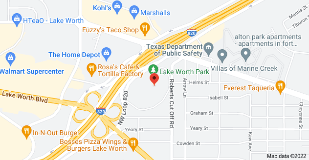 Map of 3501 Roberts Cut Off Rd, Fort Worth, TX 76114