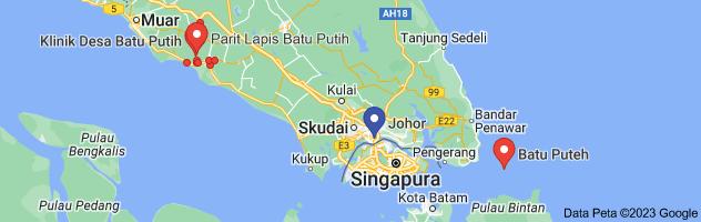 Peta batu Putih Johor
