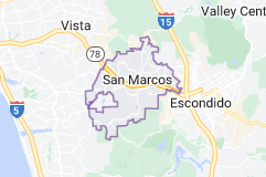 Map of San Marcos, California