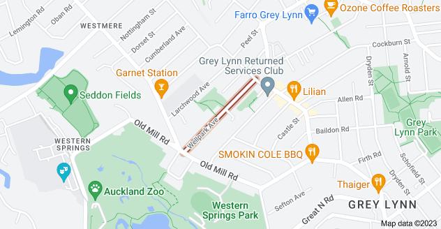 Location of Wellpark Avenue