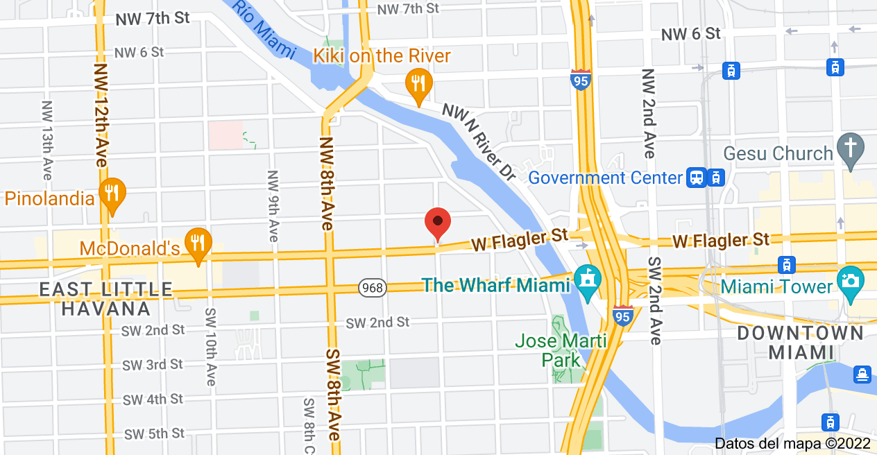 Mapa de 746 W Flagler St, Miami, FL 33130