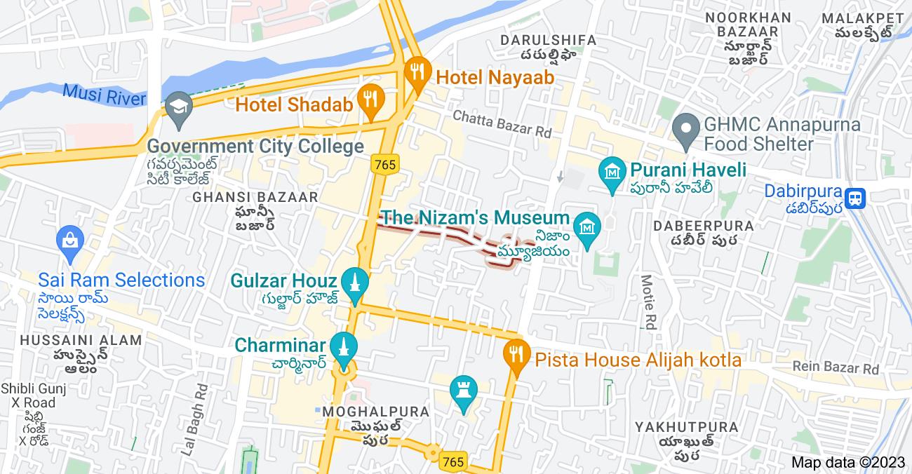 Map of Doodh Bowli, Pathar Gatti, Hyderabad, Telangana 500002, India