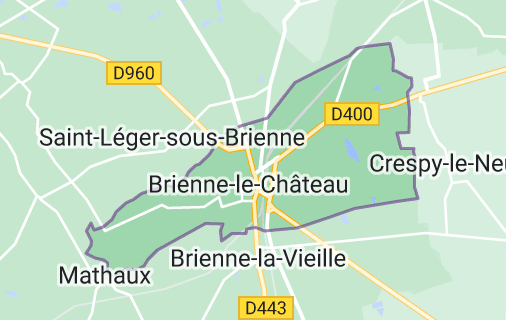 Brienne-le-Château: carte