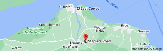 Map from East Cowes to Newport