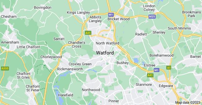 Map of Watford