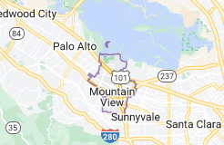 Map of Mountain View, California