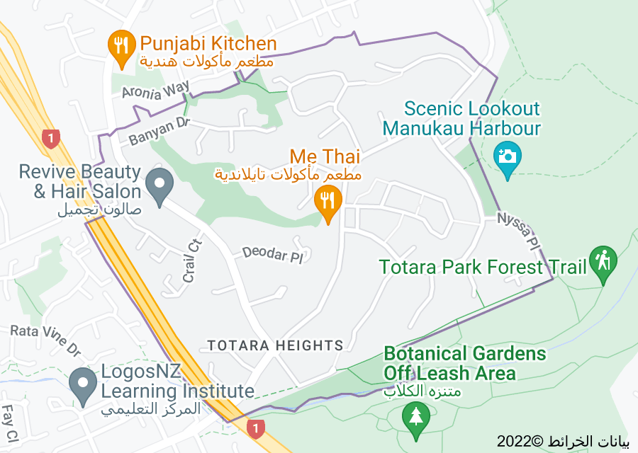Location of Totara Heights