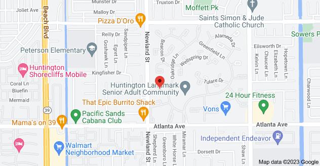 Map of 8566 Fallbrook Cir #704C, Huntington Beach, CA 92646